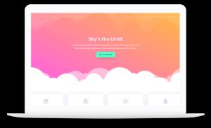 Website Design displayed on a laptop with transparent background