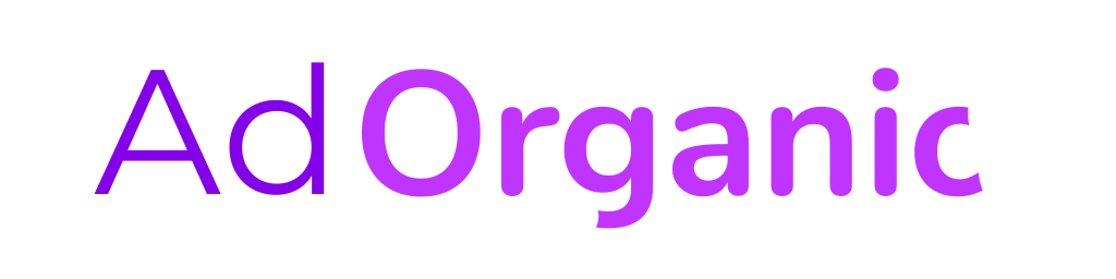 AdOrganic Web Design Purple Logo with White background