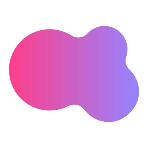 purple gradient shape with transparent background