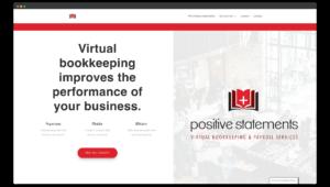 Web Design Portfolio Image of Positive Statements Website Screenshot