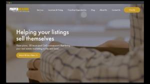 Web Design Portfolio Image of Proper Measure Website Screenshot